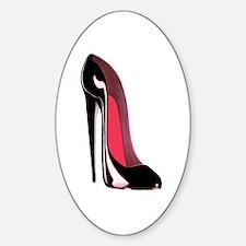 Black Stiletto Shoe Art Decal