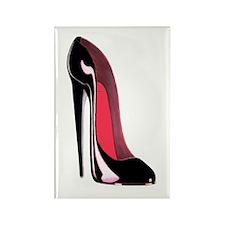 Black Stiletto Shoe Art Rectangle Magnet (100 pack