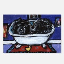 BLACK CHOW CHOW BATH Postcards (Package of 8)