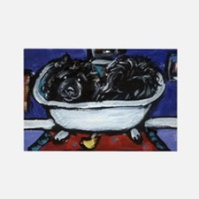 BLACK CHOW CHOW BATH Rectangle Magnet (100 pack)