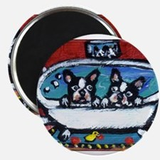 "French Bulldog red bathroom 2.25"" Magnet (10 pack)"