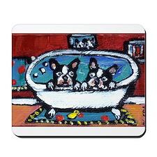 French Bulldog red bathroom Mousepad