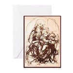 MADONNA WITH CAT Greeting Cards (Pk of 10)