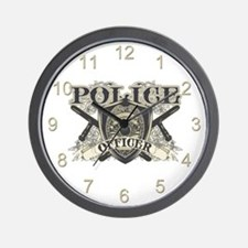 Vintage Police Officer Wall Clock
