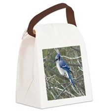 Blue Jay Canvas Lunch Bag