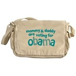 Mommy & Daddy Are Voting For Obama Messenger Bag