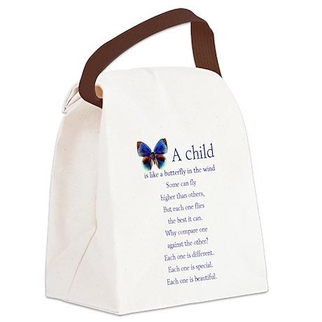 boy2butterflies.png Canvas Lunch Bag