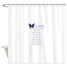 boy2butterflies.png Shower Curtain