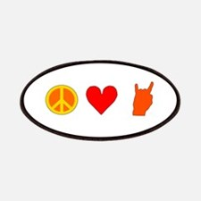 Peace Love Rock n Roll Patches