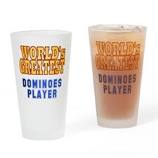 World's Greatest Dominoes Player Drinking Glass