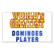World's Greatest Dominoes Player Decal