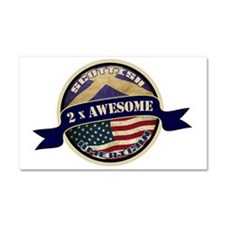 Scottish American 2x Awesome Car Magnet 20 x 12