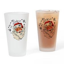 I believe in Santa Drinking Glass