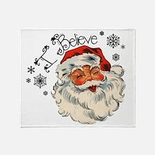 I believe in Santa Throw Blanket