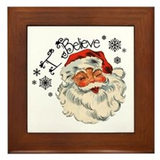 I believe in Santa Framed Tile
