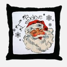 I believe in Santa Throw Pillow