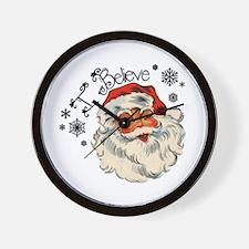 I believe in Santa Wall Clock