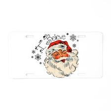 I believe in Santa Aluminum License Plate