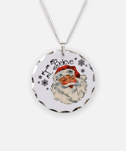 I believe in Santa Necklace Circle Charm