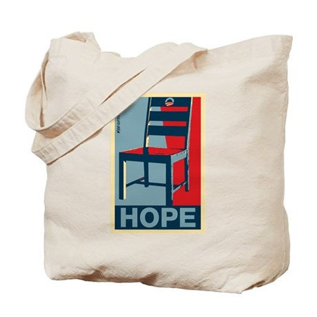 Obama - Hope and a Chair Tote Bag