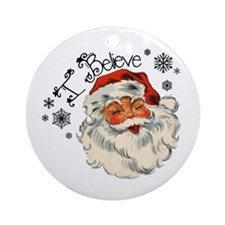 I believe in Santa Ornament (Round)