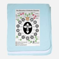 The Hierarchy of Orthodox Churches baby blanket