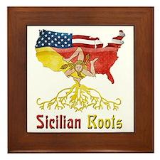 American Sicilian Roots Framed Tile