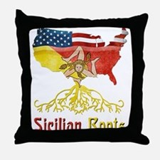 American Sicilian Roots Throw Pillow