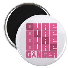 """CURE Breast Cancer 2.25"""" Magnet (100 pack)"""