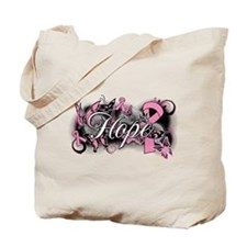 Breast Cancer Hope Garden Tote Bag