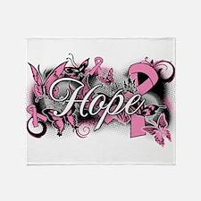 Breast Cancer Hope Garden Throw Blanket