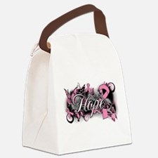 Breast Cancer Hope Garden Canvas Lunch Bag