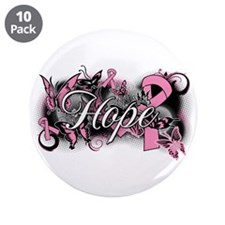 """Breast Cancer Hope Garden 3.5"""" Button (10 pack)"""
