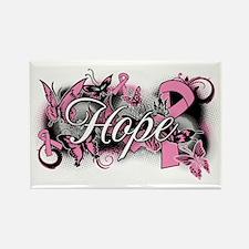 Breast Cancer Hope Garden Rectangle Magnet