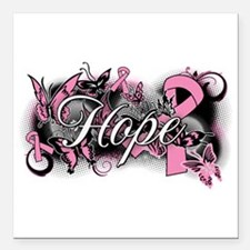 """Breast Cancer Hope Garden Square Car Magnet 3"""" x 3"""