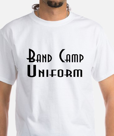 Funny Band Camp Uniform White T-Shirt