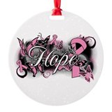Breast cancer Round Ornament