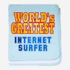 World's Greatest Internet Surfer baby blanket