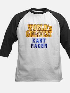 World's Greatest Kart Racer Kids Baseball Jersey