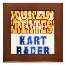 World's Greatest Kart Racer Framed Tile