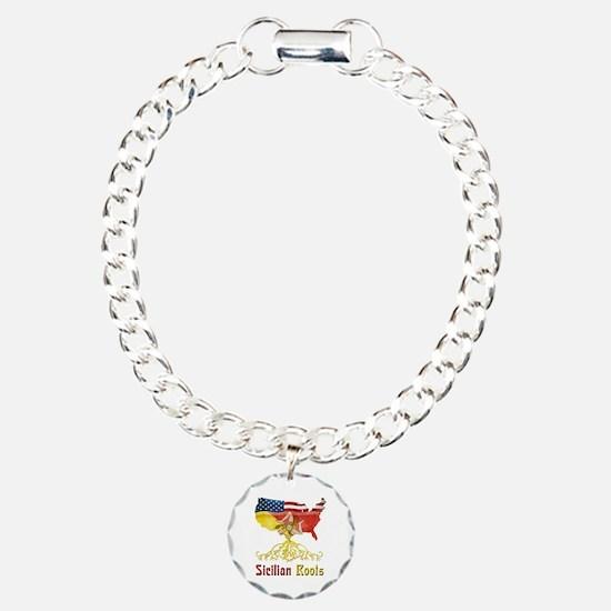 American Sicilian Roots Charm Bracelet, One Charm