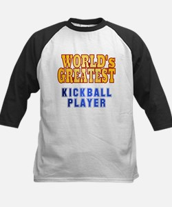 World's Greatest Kickball Player Kids Baseball Jer
