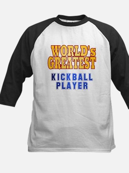 World's Greatest Kickball Player Kids Baseball Jer