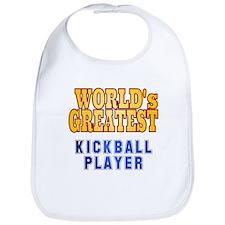 World's Greatest Kickball Player Bib