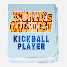 World's Greatest Kickball Player baby blanket