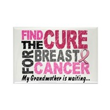 Find The Cure 1.2 Breast Cancer Rectangle Magnet