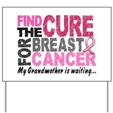 Find The Cure 1.2 Breast Cancer Yard Sign