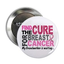 """Find The Cure 1.2 Breast Cancer 2.25"""" Button (10 p"""