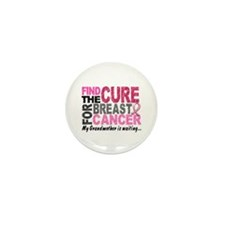 Find The Cure 1.2 Breast Cancer Mini Button (10 pa