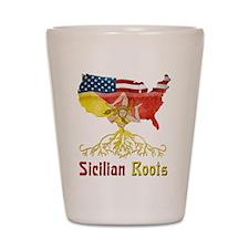 American Sicilian Roots Shot Glass
